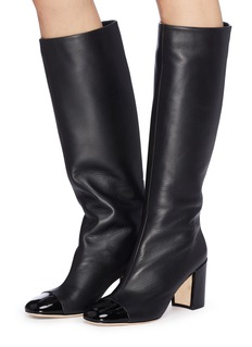 RODO Patent toe leather knee high boots