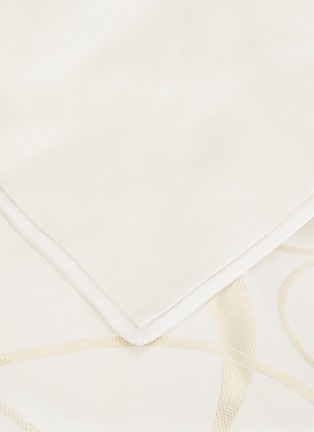 Detail View - Click To Enlarge - FRETTE - Luxury Sparkling Swirl king size duvet cover – Milk/Gold