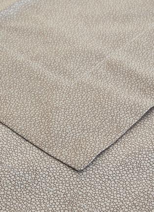 Detail View - Click To Enlarge - FRETTE - Forever YD king size duvet set –Grey/Brown