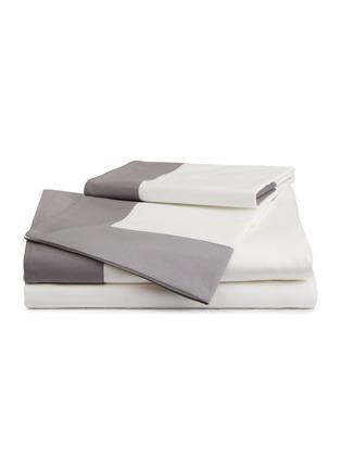 Main View - Click To Enlarge - FRETTE - Bold king size duvet set – Milk/Slate Grey
