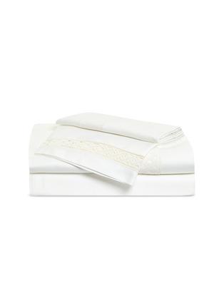Main View - Click To Enlarge - FRETTE - Lozenge Lace queen size duvet set –Milk