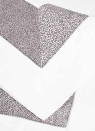 Detail View - Click To Enlarge - FRETTE - Forever Bordo boudoir sham – Grey/Brown