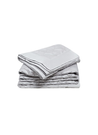 Main View - Click To Enlarge - FRETTE - Tile king size bedcover –Cliff Grey