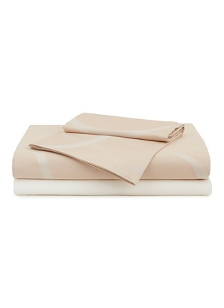 Main View - Click To Enlarge - FRETTE - Ribbons king size duvet set – Powder Pink