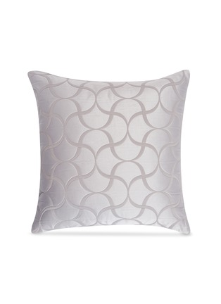 Main View - Click To Enlarge - FRETTE - Tile small cushion cover – Cliff Grey