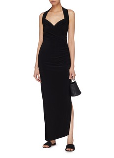 Norma Kamali Side split halterneck dress