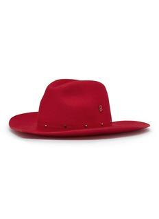 My Bob 'Love' studded Merino wool fedora hat
