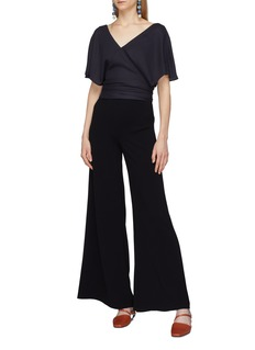 JACQUEMUS Sash tie open back wrap cropped top