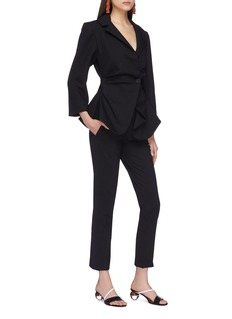 JACQUEMUS Asymmetric drape suiting blazer