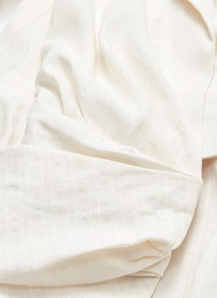 - JACQUEMUS - 'Sabah' twist split hem drape wrap shirt dress