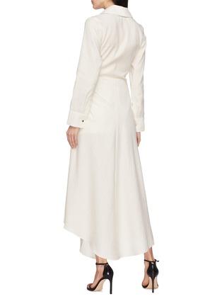 Back View - Click To Enlarge - JACQUEMUS - 'Sabah' twist split hem drape wrap shirt dress