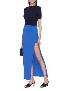 JACQUEMUS 'La Jupe Peron' split outseam knit skirt