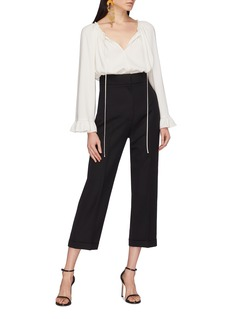 JACQUEMUS Roll cuff cropped straight leg pants