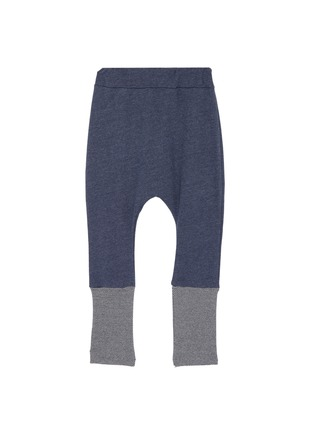 Main View - Click To Enlarge - WEE MONSTER - Contrast cuff kids jogging pants