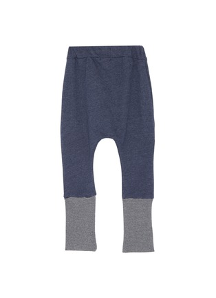Figure View - Click To Enlarge - WEE MONSTER - Contrast cuff kids jogging pants