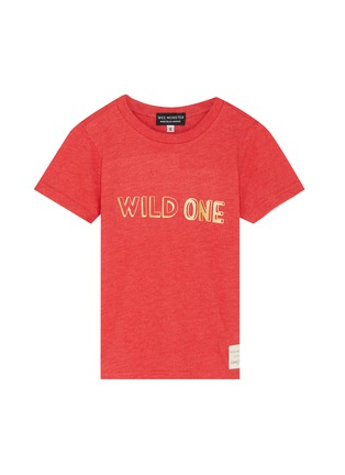 Main View - Click To Enlarge - WEE MONSTER - 'Wild One' slogan print kids T-shirt