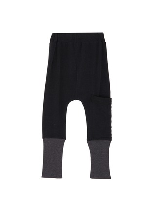 Figure View - Click To Enlarge - Wee Monster - Contrast cuff bamboo cotton kids jogging pants