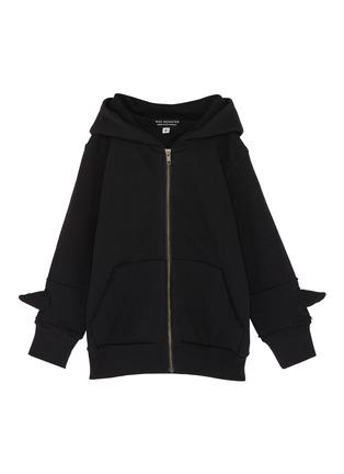 Main View - Click To Enlarge - Wee Monster - Monster spike kids zip hoodie
