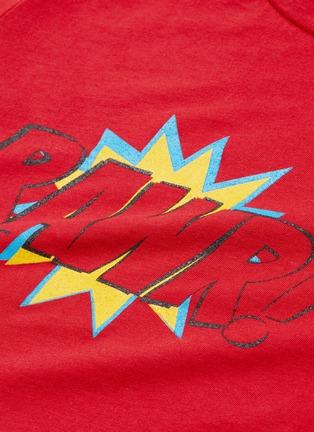 - WEE MONSTER - 'Rawr' slogan graphic print kids long sleeve T-shirt