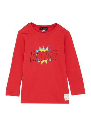 Main View - Click To Enlarge - WEE MONSTER - 'Rawr' slogan graphic print kids long sleeve T-shirt