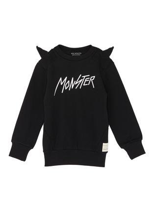 Main View - Click To Enlarge - Wee Monster - Slogan print monster spike kids sweatshirt