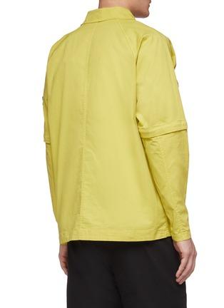 Back View - Click To Enlarge - STONE ISLAND - Detachable sleeve chest pocket shirt jacket