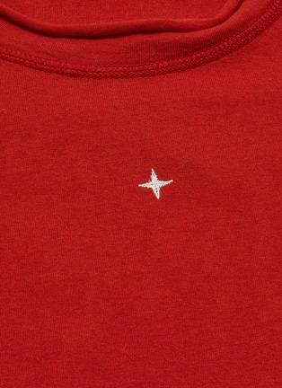 - Stone Island - Logo embroidered stripe cuff T-shirt