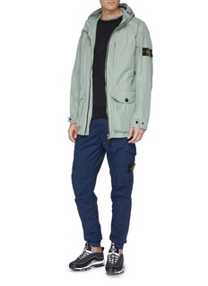 Stone Island Mix pocket hooded Micro Reps coat