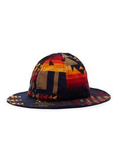 sacai x Pendleton geometric print corduroy fisherman hat