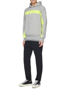 Sacai Stripe zip outseam hoodie