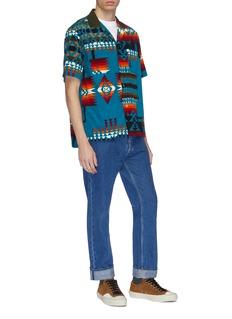 Sacai x Pendleton geometric print corduroy short sleeve shirt