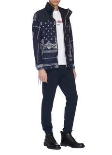 Sacai Contrast yoke bandana graphic print puffer jacket