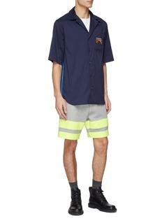 Sacai Contrast waistband stripe cuff sweat shorts