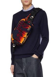 Sacai x Pendleton geometric print corduroy bum bag