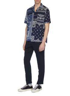 Sacai Bandana graphic print patchwork short sleeve shirt