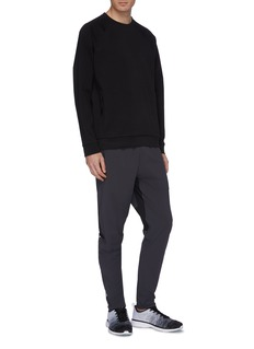ISAORA 'V.3' reflective stripe colourblock mesh panel track pants