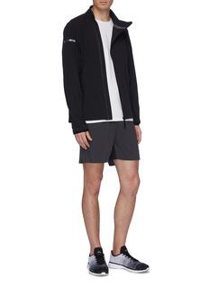 ISAORA 'V.3' reflective stripe mesh inseam track shorts