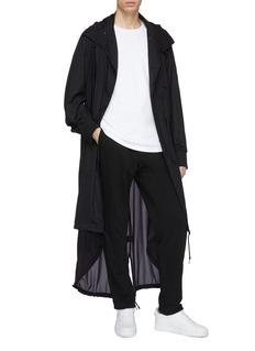 Y-3 'Adizero' 3-Stripes sleeve hooded high-low parka