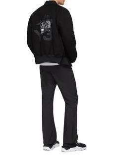 Y-3 'Skull' reversible logo print PrimaLoft® bomber jacket