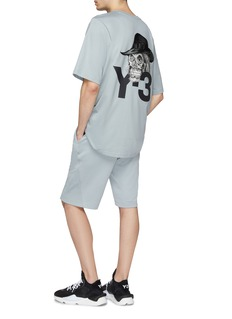 Y-3 'Skull' logo print boxy T-shirt