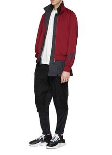 Y-3 Reversible 3-Stripes sleeve layered jacket