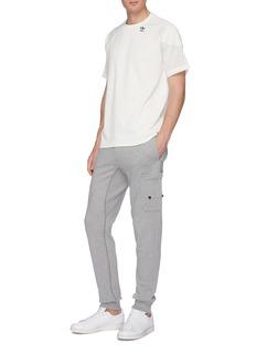 adidas 'PT3' 3-Stripes sleeve patchwork raglan T-shirt