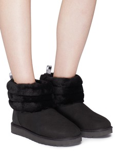UGG 'Fluff Mini Quilted' faux fur cuff ankle boots