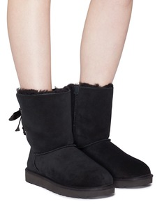 UGG 'Customizable Bailey Bow Short' ribbon ankle boots