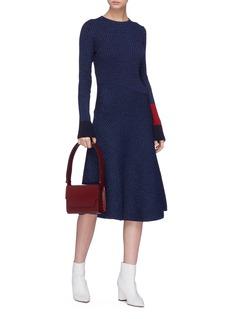 Cédric Charlier Colourblock cuff rib panelled knit dress