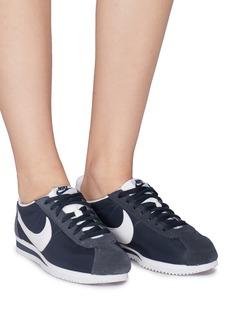 Nike 'Classic Cortez' Swoosh logo suede panel sneakers