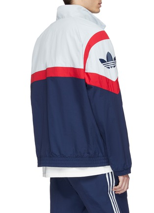 Back View - Click To Enlarge - Adidas - 'Sportive' colourblock geometric print track jacket