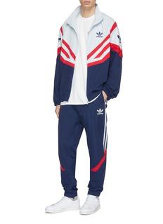 Adidas 'Sportive' colourblock geometric print track jacket