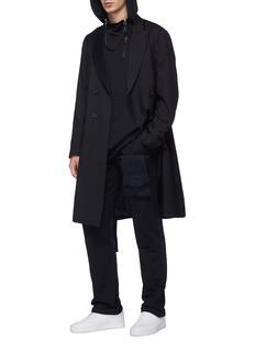 Matthew Miller Layered half-zip hoodie