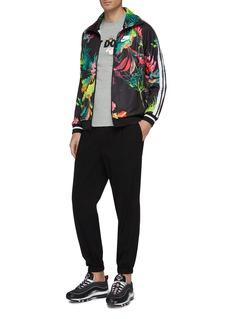 Nike Slogan stripe sleeve palm tree print track jacket